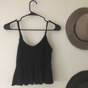Cute Black Crop Top from Forever 21